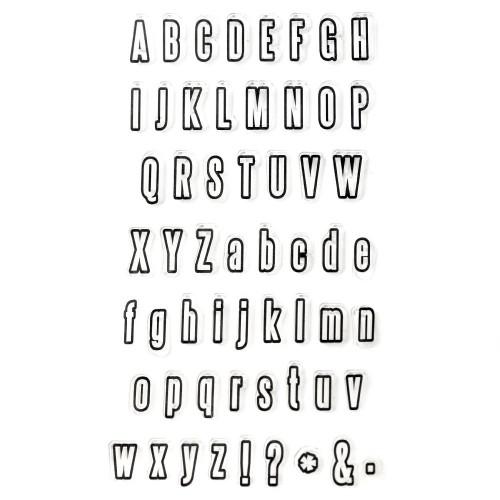 Силиконов печат - латински букви - малки и големи - 11x20 см