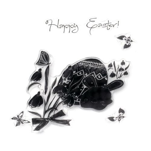Силиконов печат - Честит Великден - 10x10 см - Happy Easter