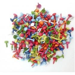 Декоративни червени топчета - шипки - 5 бр.- Коледни плодчета - d -1.7см