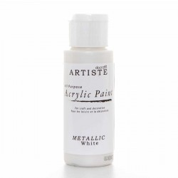 ACRYLIC PAINT - Artiste - METALLIC WHITE - Металик боя