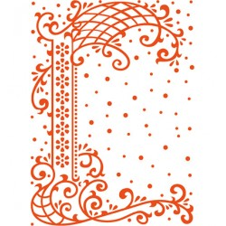 Папка за релеф 10x13cm - Marianne design - Anjas decorative border