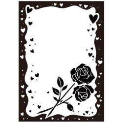 Папка за релеф - Crafts Too  - Embossing Folder - Rose and Heart Frame