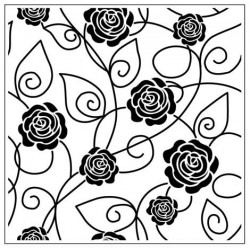 Папка за релеф - Crafts Too  - Embossing Folder - Solid roses