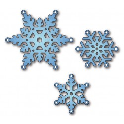 Шаблони за рязане и релеф снежинки - Elizabeth Craft Designs - Snowflakes