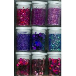 Декоративен брокат - Glitter Set Purple