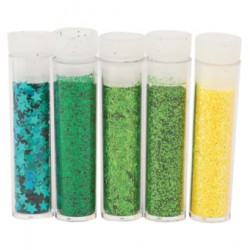 Комплект от 5 броката - Hobby and Crafting Fun -  Glitter & Flitter Set 5 Tube Pack Carribean