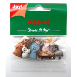 Елементи от полимер - Joy Craft Add-ies X-Mas - Interpretation Nativi