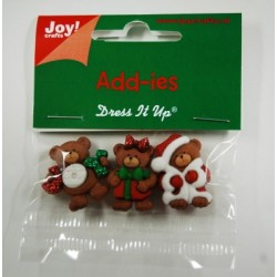 Елементи от полимер - Joy Craft Add-ies X-Mas - Cherry Bears