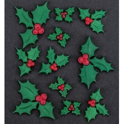 Елементи от полимер - Joy Craft Add-ies X-Mas - Holly Leaves