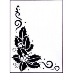 Папка за релеф Коледна звезда - Crafts Too Embossing Folder HOLLY