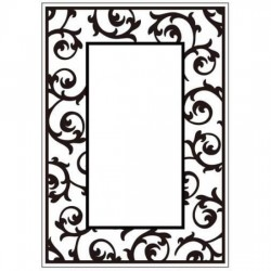 Папка за релеф - Crafts Too Embossing Folder Scrollwork Frame