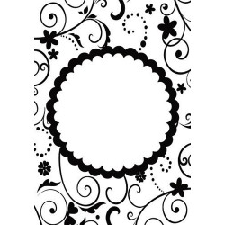 Папка за релеф - Crafts Too  - Embossing Folder - FUN FLORAL FRAME