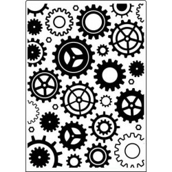 "Папка за релеф - Crafts Too  -   Embossing Folder 5x7"" Geared"
