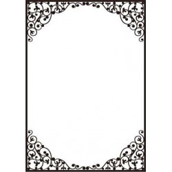 "Папка за релеф - Crafts Too  -   Embossing Folder 5x7"" Dainty Frame"