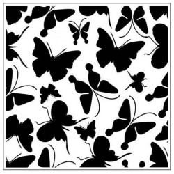 Папка за релеф - Crafts Too  - BUTTERFLIES SQUARE EMBOSSING FOLDER