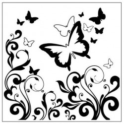 Папка за релеф - Crafts Too Embossing Folder BUTTERFLIES SQUARE