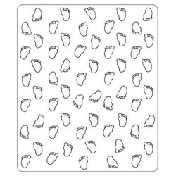 Папка за релеф - Crafts Too  - Embossing Folder Babies Feet