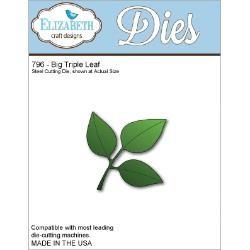 Универсални метални щанци листенца - Elizabeth Craft Design Big Triple Leaf Wafer Thin Metal Die (796)