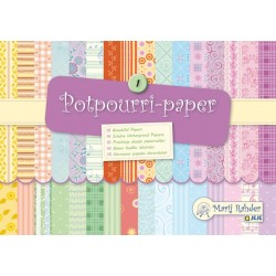 Блокче с цветни листи - Marij Rahder Potpourri-Paper 1 (9.0010) - 21.0 х 14.8 см., 16 листа / 32 дизайна