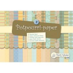 Блокче с цветни листи - Marij Rahder Potpourri-Paper 2 (9.0011),  21.0 х 14.8 см., 16 листа / 32 дизайна