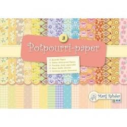 Блокче с цветни листи - Marij Rahder Potpourri-Paper 3 (9.0012), 21.0 х 14.8 см., 16 листа / 32 дизайна