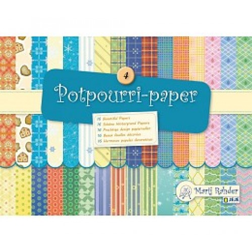 Блокче с цветни листи - Marij Rahder Potpourri-Paper 4 (9.0013),  21.0 х 14.8 см., 16 листа / 32 дизайна