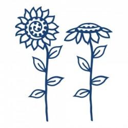 Универсална щанца за рязане и релеф слънчоглед - Tattered Lace Sunflowers (ACD394)