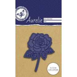 Универсална щанца за рязане и релеф роза - Aurelie Rose Die (AUCD1002)