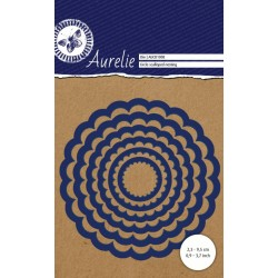 Универсална щанца за рязане и релеф - Aurelie Circle Scalloped Nesting Die (AUCD1008)
