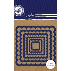 Универсална щанца за рязане и релеф - Aurelie Square Scalloped Nesting Die (AUCD1010)