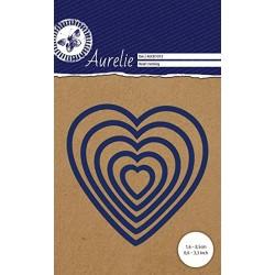 Универсална щанца за рязане и релеф - Aurelie Heart Nesting Dies (AUCD1013)