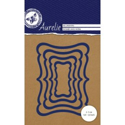 Универсална щанца за рязане и релеф - Aurelie Rectangle Waves Nesting Die (AUCD1015)