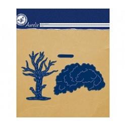 Универсална щанца за рязане и релеф дърво - Aurelie Cat Tree Craft Die (AUCD1024)
