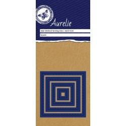 Универсална щанца за рязане и релеф квадрат с имитация шев - Aurelie Stitched Square Mini Nesting Die (AUCD1030)