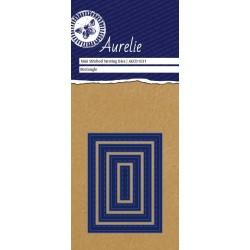 Универсална щанца за рязане и релеф - Aurelie Stitched Rectangle Mini Nesting Die (AUCD1031)