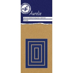 Универсална щанца за рязане и релеф - Aurelie Cross-Stitch Rectangle Mini Nesting Die (AUCD1035)
