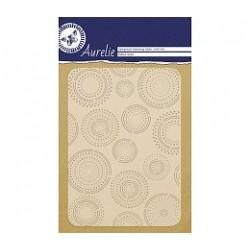 Ембосинг папка / папка за релеф с кръгове - Aurelie Dotted Circles Background Embossing Folder (AUEF1003)