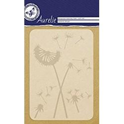 Ембосинг папка / папка за релеф глухарче - Aurelie Dandelion Whisper Background Embossing Folder (AUEF1008)