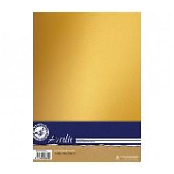 Метализиран златен картон А4 - 10 листа, 240гр. - Aurelie Sparkling Cardstock Gold (AUSP1015)