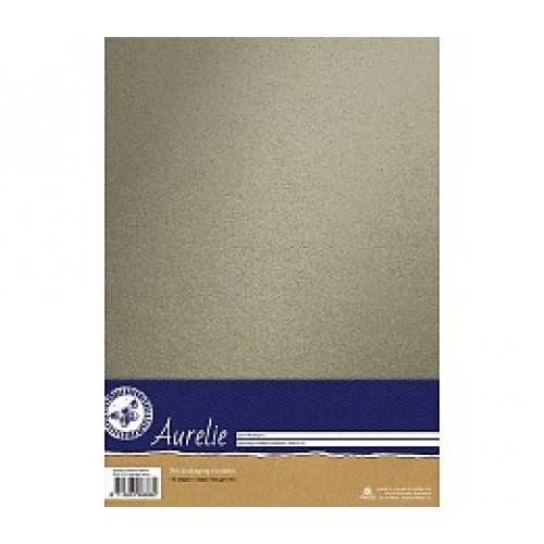 Метализиран сребрист картон, А4, 240гр. 10 листа - платина - Aurelie Sparkling Cardstock Platinum (AUSP1016)