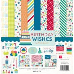 """Дизйнерски комлект 12"""" х 12"""" - Echo Park Birthday Wishes Boy 12x12 Inch Collection Kit (BDB84016)"""
