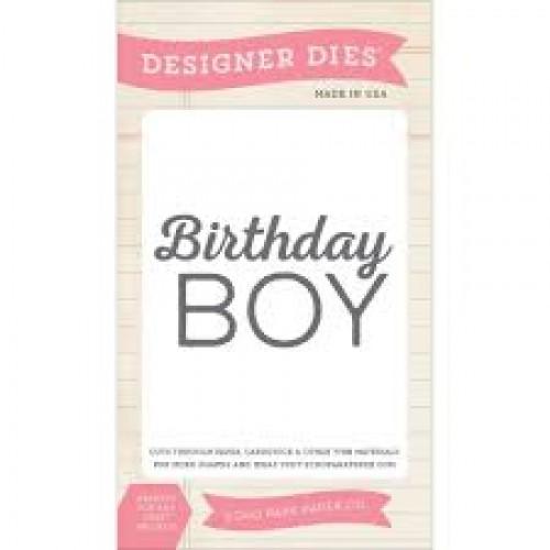 Универсална щанца за рязане и релеф - Echo Park Birthday Boy Designer Dies (BDB84032)
