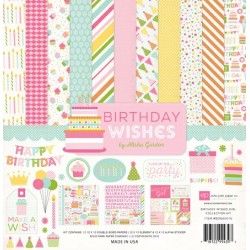 "Дизйнерски комлект 12"" х 12"" - Echo Park Birthday Wishes Girl 12x12 Inch Collection Kit (BDG85016)"