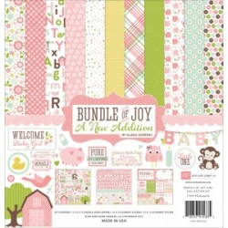 "Дизйнерски комлект 12"" х 12"" - Echo Park Bundle Of Joy 2 Girl 12x12 Inch Collection Kit (BJGT79016)"