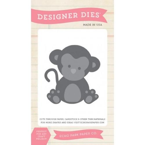 Тънка метална щанца маймунка - Echo Park Bundle Of Joy 2 Girl Monkey Die Set (BJGT79031)