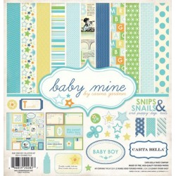"Дизайнерски комплект 12"" х 12"" - Carta Bella Baby Mine Boy 12x12 Inch Collection Kit (CB-BMB27016)"