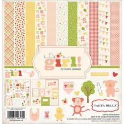 "Дизайнерски комплект 12"" х 12"" - Carta Bella It's a Girl 12x12 Inch Collection Kit (CBIG51016)"