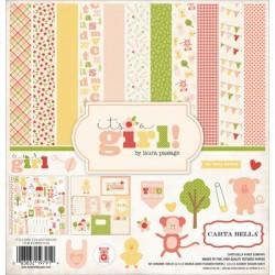 "Дизайнерски комплект 12"" х 12"" - Carta Bella It's a Girl 12x12 Inch Collection Kit (CBIG51016)"