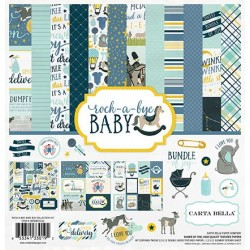 "Дизайнерски комплект 12"" х 12"" - Carta Bella Rock-a-Bye Boy 12x12 Inch Collection Kit (CBRBB64016)"