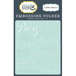 Ембосинг папка / папка за релеф - Carta Bella Embossing Folder Little One Boy (CBRBB64031)